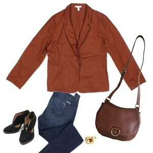 Eileen Fisher Organic Linen Blazer Jacket